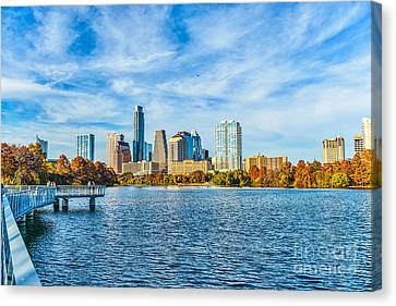 Austin Cityscape View Canvas Print by Tod and Cynthia Grubbs