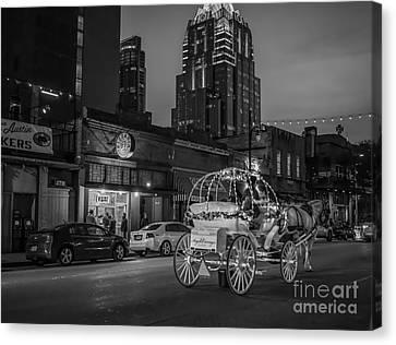 Austin Sixth Street At Dark Canvas Print by Tod and Cynthia Grubbs