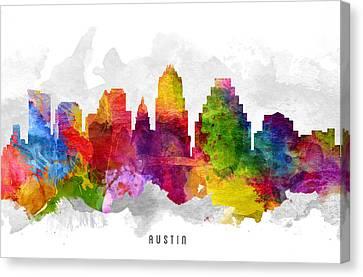 Austin Texas Cityscape 13 Canvas Print by Aged Pixel