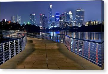 Austin Welcomes You Canvas Print by Frozen in Time Fine Art Photography
