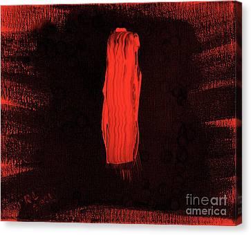 Australian Aborigine Man 2 Canvas Print by Richard W Linford