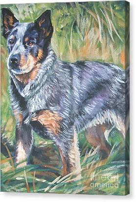Australian Cattle Dog 1 Canvas Print by Lee Ann Shepard