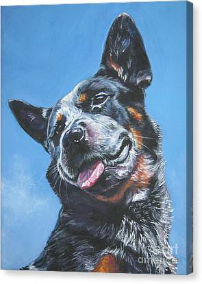 Australian Cattle Dog 2 Canvas Print by Lee Ann Shepard