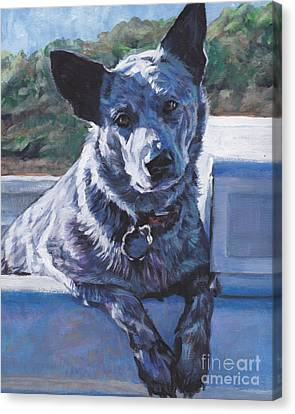 Australian Cattle Dog Blue Heeler Canvas Print by Lee Ann Shepard
