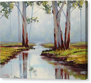 Australian Gum Trees Canvas Print by Graham Gercken