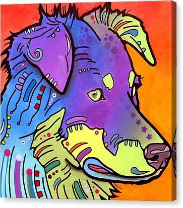 Australian Shepherd Iv Canvas Print by Dean Russo