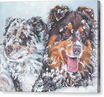 Australian Shepherd Canvas Print by Lee Ann Shepard