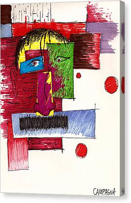 Auto Portrait Canvas Print by Teddy Campagna
