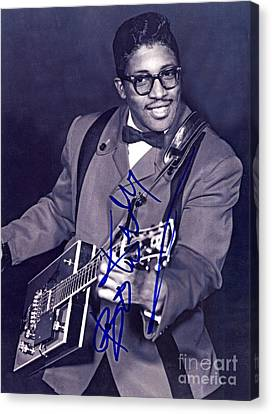 Autographed Bo Diddley Canvas Print by Pd
