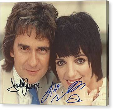 Autographed Dudley Moore And Liza Minnelli  Canvas Print by Pd