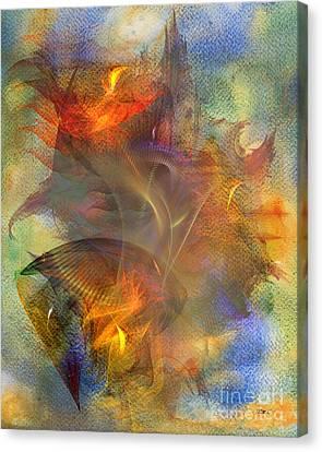 Autumn Ablaze Canvas Print by John Robert Beck