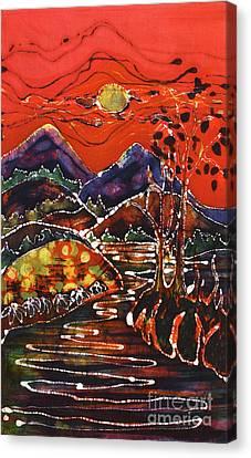 Autumn Adirondack Sunset Canvas Print by Carol Law Conklin