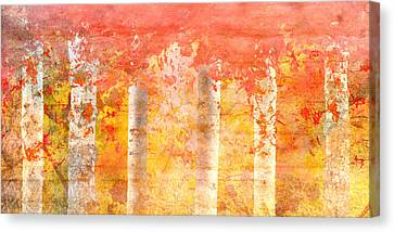 Autumn Aspens Canvas Print by Brett Pfister