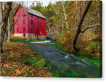 Autumn At Alley Spring Canvas Print by Jackie Novak