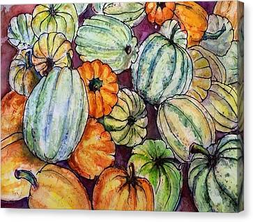 Autumn At Beth's Farmstand Canvas Print by Gloria Avner