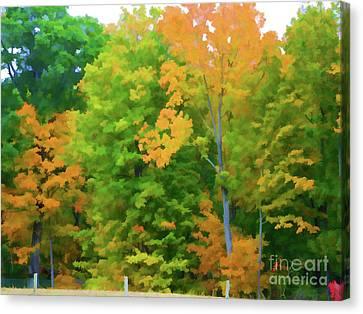 Autumn At Olana 2 Canvas Print by Lanjee Chee