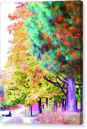 Autumn At Olana 4 Canvas Print by Lanjee Chee