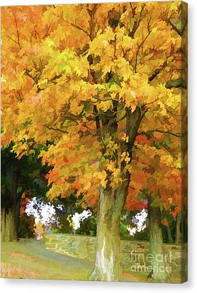 Autumn At Olana 5 Canvas Print by Lanjee Chee