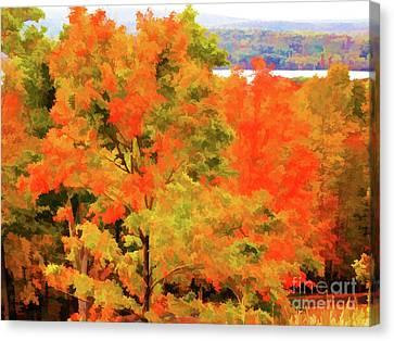 Autumn At Olana 6 Canvas Print by Lanjee Chee