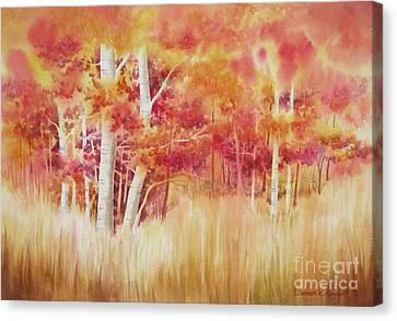 Autumn Blaze Canvas Print by Deborah Ronglien