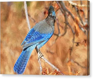 Autumn Blues Canvas Print by Donna Kennedy