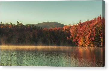 Autumn By The Mountain Lake Canvas Print by Chris Fletcher