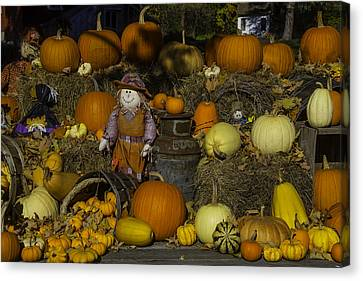 Autumn Farm Stand Canvas Print by Garry Gay