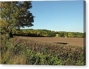 Autumn Farmland Canvas Print by Mark Severn