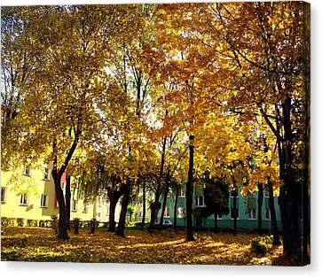 Autumn Festival Of Colors Canvas Print by Henryk Gorecki
