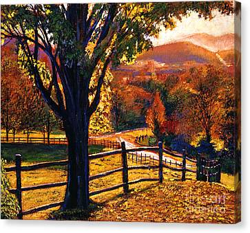 Autumn Fire Canvas Print by David Lloyd Glover