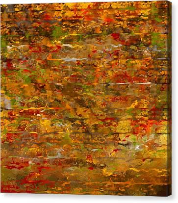 Autumn Foliage Abstract Canvas Print by Lourry Legarde