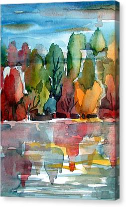 Autumn Glows Canvas Print by Mindy Newman