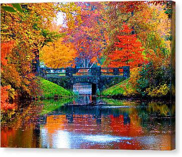 Autumn In Boston Canvas Print by Marie Jamieson