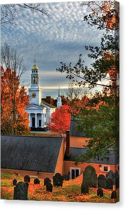 Autumn In New England - Concord Ma Canvas Print by Joann Vitali