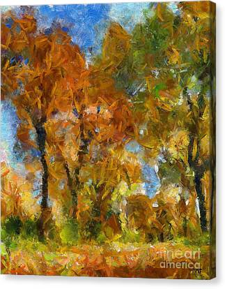 Autumn In The Karst Canvas Print by Dragica  Micki Fortuna