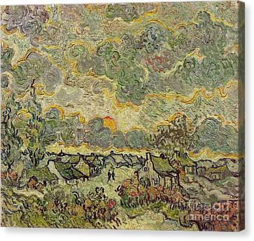 Autumn Landscape Canvas Print by Vincent Van Gogh
