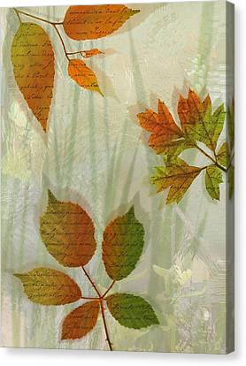 Autumn Leaves-2 Canvas Print by Nina Bradica