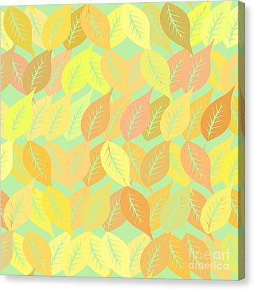 Autumn Leaves Pattern Canvas Print by Gaspar Avila