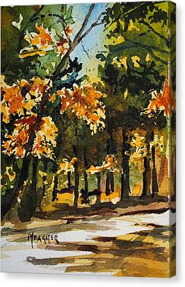 Autumn On The Natchez Trace Canvas Print by Spencer Meagher