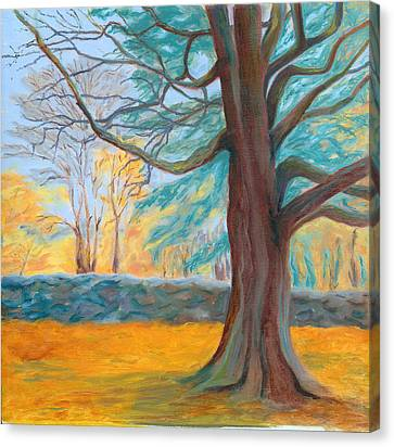 Autumn On The Preserve Canvas Print by Paula Emery