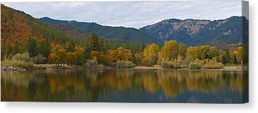 Autumn Panorama Canvas Print by Loree Johnson