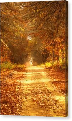 Autumn Paradisium Canvas Print by Georgiana Romanovna