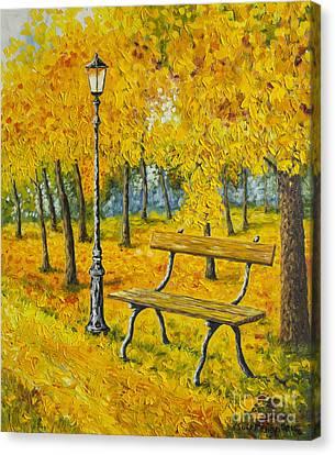 Autumn Park Canvas Print by Veikko Suikkanen
