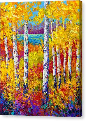Autumn Patchwork Canvas Print by Marion Rose