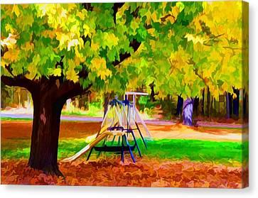 Autumn Playground 1 Canvas Print by Lanjee Chee