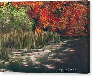 Autumn Pond Canvas Print by Susan Jenkins