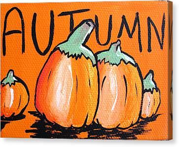 Autumn Pumpkins Canvas Print by Jera Sky