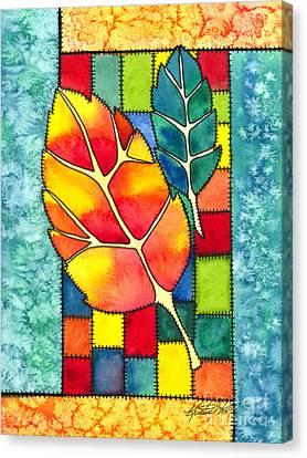 Autumn Quilt Canvas Print by Kristen Fox