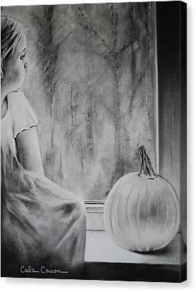 Autumn Rain Canvas Print by Carla Carson
