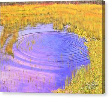 Autumn Ripples Canvas Print by Cindy Lee Longhini